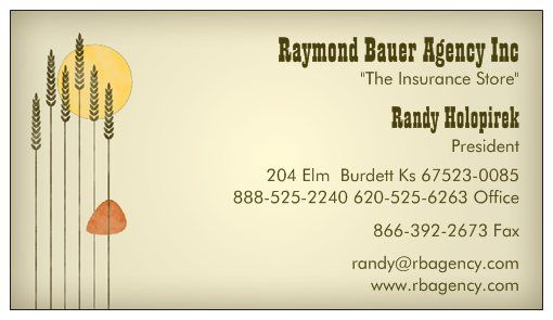 Randy Holopirek business card